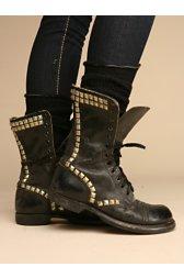 Studded Vintage Combat Boot