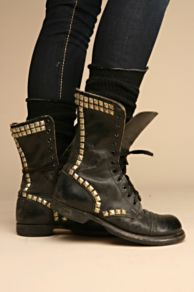 Free People Clothing Boutique > Studded Vintage Combat Boot :  studded free people boots studded boots