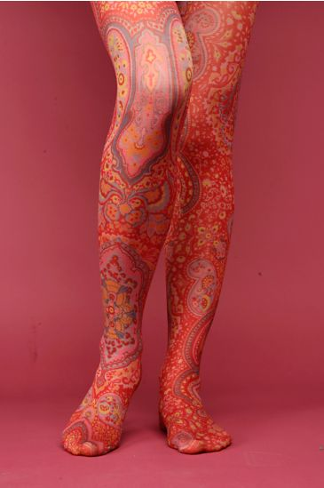 Free People Clothing Boutique > Pondi Cherry Paisley Tight :  hippie chick leggings red nylons