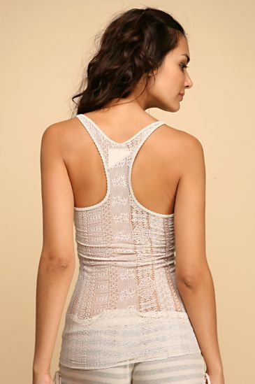 Free People Clothing Boutique > Racerback Lace Cami :  racerback lace cami womens fitted see through