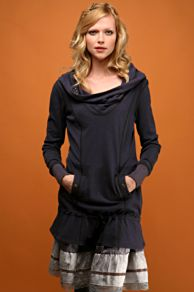 Free People Clothing Boutique > Hooded Moonshine Cowl :  drawstring dropwaist free people clothing