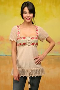 Free People Clothing Boutique > Greenland Embroidery Top :  hippie chick shirt free people