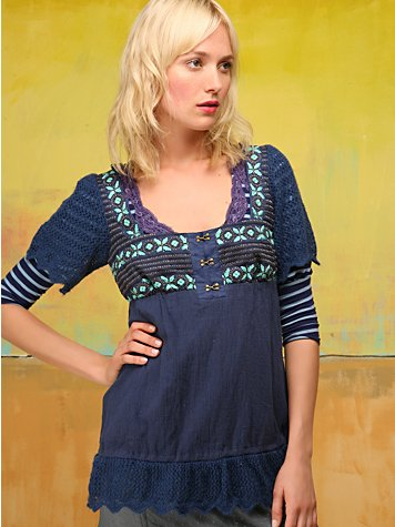 Free People Clothing Boutique > Greenland Embroidery Top :  bohemian chic boho boho chic free people