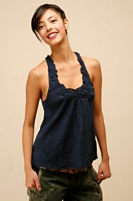 Free People Clothing Boutique > Embellished Back Tank :  loose knit summer racerback