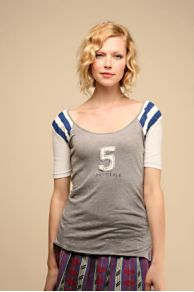 Free People Clothing Boutique > We The Free Sporty Varsity Tee :  we the free sporty varsity tee clothing heather grey womens