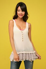 Free People Clothing Boutique > Lacey Layers Rib Tank :  lacey layers rib tank tank top knit womens