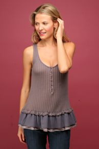 Free People Clothing Boutique > Lacey Layers Rib Tank :  lacey layers rib tank violet tiered free people