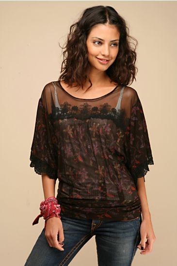 Free People :  free people lacey vines dolman lace top free people