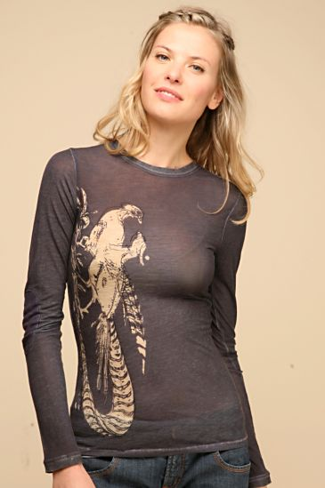 Free People Clothing Boutique > We The Free Pheasant Watercolor Crew :  pheasent bird birds shirt