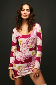 Free People Clothing Boutique > Cashmere Printed Nightie :  pink free people clothing womens
