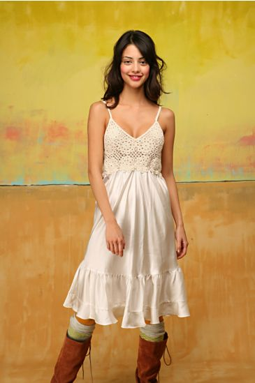 Free People Clothing Boutique > Crochet Bodice Dress from freepeople.com