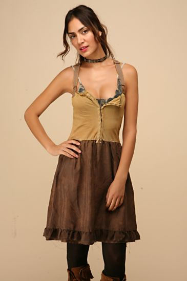 Free People Clothing Boutique > We The Free Corset Dress :  corset dress free people boho dress boho