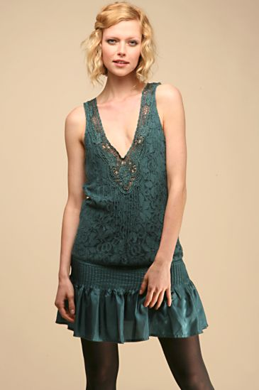 Free People :  free people lovely lace dropwaist lace free people dress