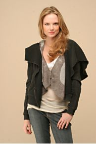 Free People Clothing Boutique > Ruffled Moto Jacket :  jacket hood moto jacket asymmetrical