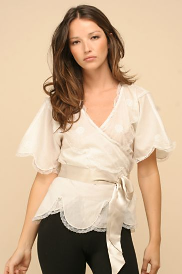 Free People Clothing Boutique > Scalloped Lace Top :  tops free people white shirts