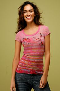 Free People Clothing Boutique > Shanghai Yogi Tee :  short sleeves t-shirt free people polyester