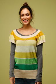 Free People Clothing Boutique > Color Swatch Top :  shirts free people green yellow