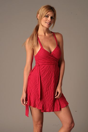 Free People Clothing Boutique > Crossback Knit Wrap Dress :  wrap dress summer dresses dress red dress