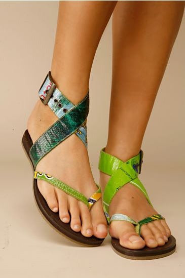 rice paper sandals :  eco chic design sandals