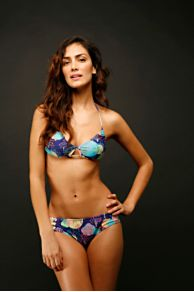 Free People Clothing Boutique > Solar Orbit Bikini :  geometric print clothing bikini orange