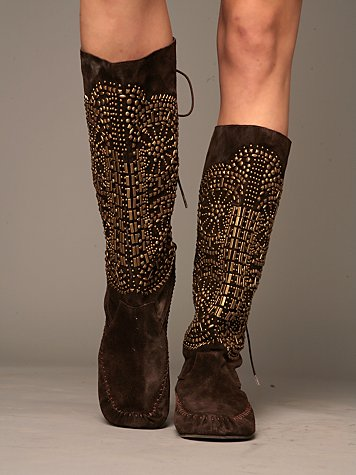 Free People Clothing Boutique > Fleetwood Moccasin Boot :  bohemian chic shoe shoes boots