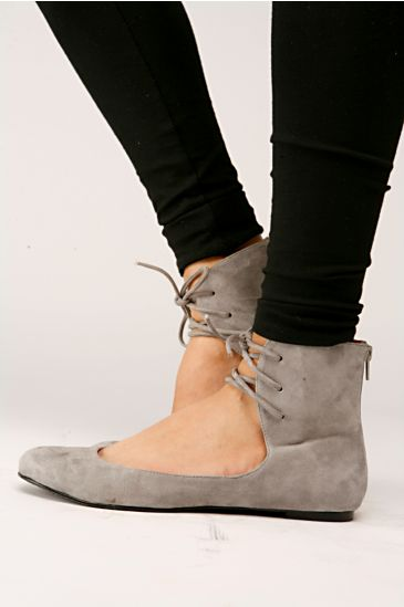 Free People Clothing Boutique > Barcode Ankle Flat by Jeffrey Campbell :  suede free ankle flats