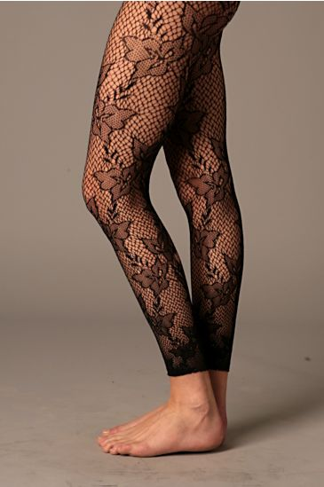 Free People Clothing Boutique > Rose Crochet Footless 		 :  crochet footless tights