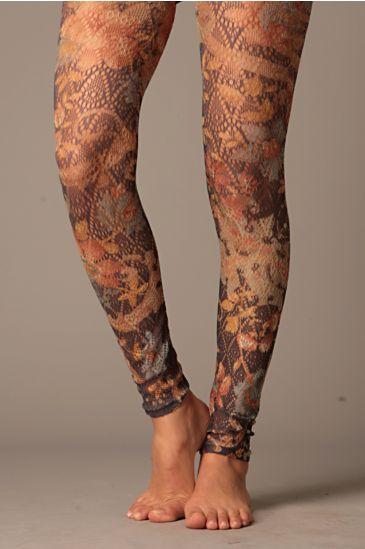 Free People Clothing Boutique > Diamond Brocade Footless Tights 		 :  printed footless tights