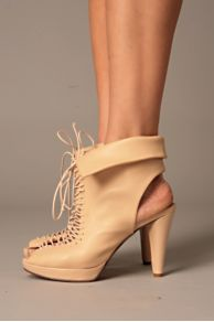 Free People Clothing Boutique > Laceup Peep Toe from freepeople.com