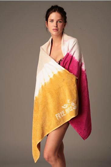 Tie Dye Beach Towel :  beach summer free people tie dye