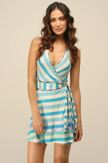 Free People Clothing Boutique > Perfect Rows Dress :  blue spring stripes short dress