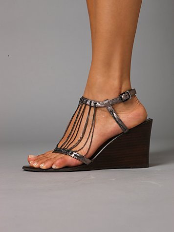 Giselle Chain Wedge :  sandal wedges chain fashion