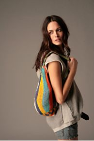 Free People Clothing Boutique > Rainbow Fishermans Bag :  beach striped cotton stripes