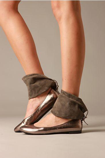 Dream Cuff Flat :  suede flats ballerina ballet