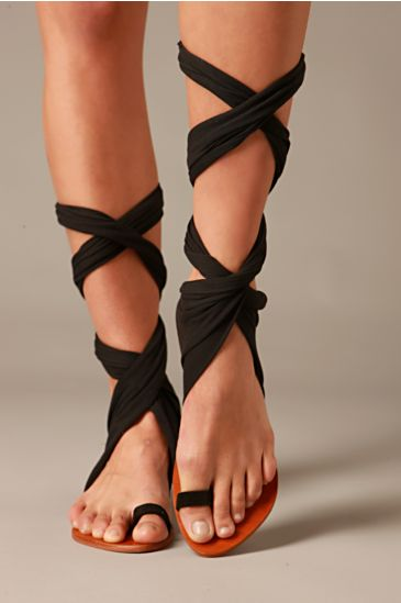 Free People Clothing Boutique > Jersey Wrap Sandal from freepeople.com