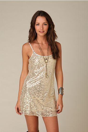 Sequined Mesh Tunic :  mesh free people sequin slip