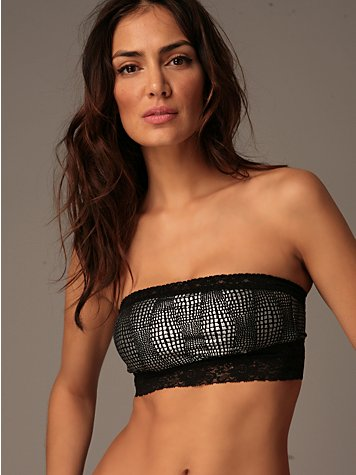 Free People Clothing Boutique > Croc Print Foiled Bandeau from freepeople.com