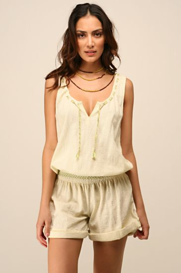 Free People Clothing Boutique > In Stitches Romper :  spring summer shortall free people