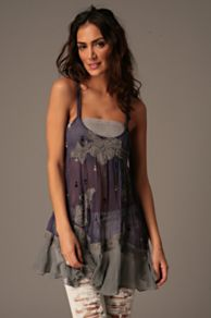 Free People Clothing Boutique > Folk Festival Chiffon Top :  loose sleeveless a-line shirt
