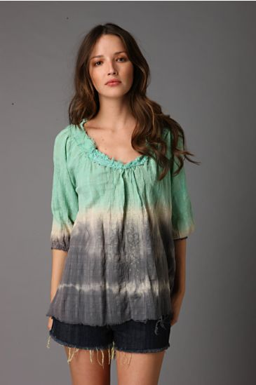 Free People Clothing Boutique > Poets Society Gauze Top :  blouse boho hippie chic free people