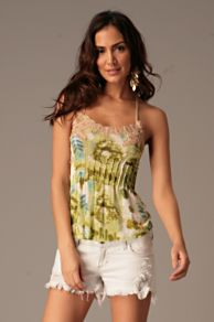 Free People Clothing Boutique > Aztec Gardens Tank :  floral tank top green tank tops