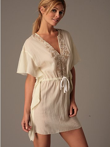 Free People- Caftan Minidress :  free people caftan summer trend dress dresses