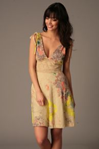 Free People Clothing Boutique > Summer In Tucson Dress :  spring beige free people green