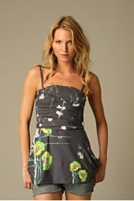 Free People Clothing Boutique > Tucson Blossoms Dress :  straps boning square neckline adjustable straps
