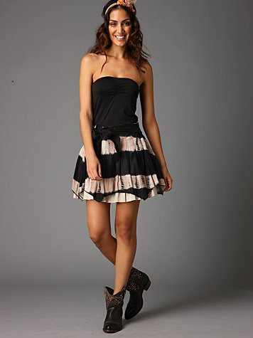 Free People Clothing Boutique > Desert Dancer Skirt :  striped black stripes black and white