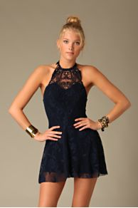 Free People Clothing Boutique > Flirty Lace Mini Dress :  flirty lace halter mini dress lace