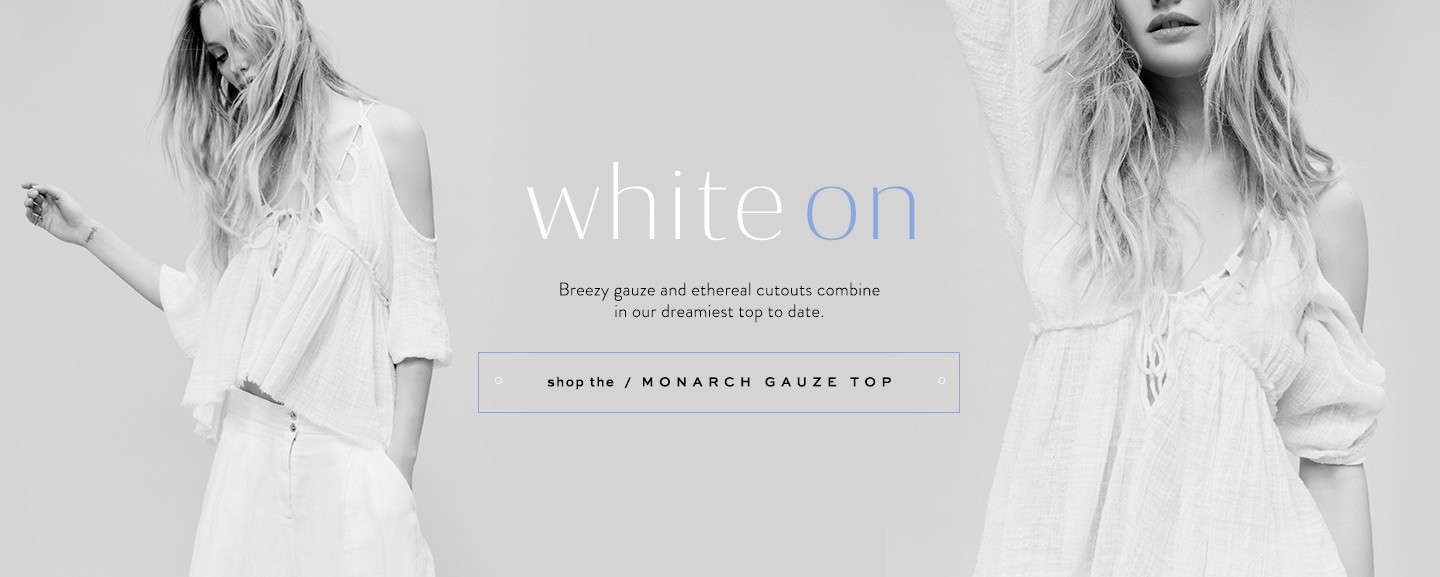 Shop the FP One Monarch Gauze Top at Free People