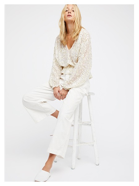 Shop the Smile Away Embellished Top at Free People