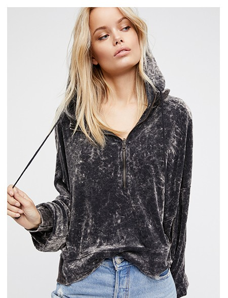 Shop the I'm Sure It's Velour Hoodie at Free People