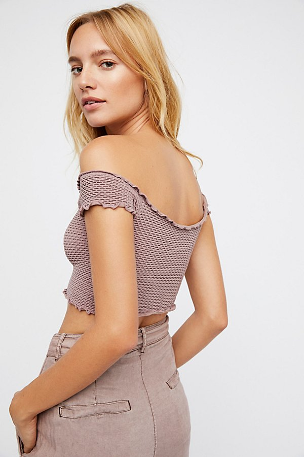 Slide View 2: Smocked Seamless Crop Top